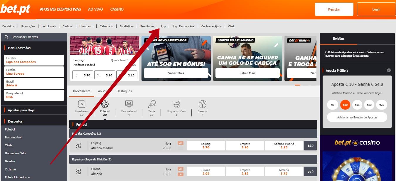 Como fazer o download Bet.PT app para mobile.