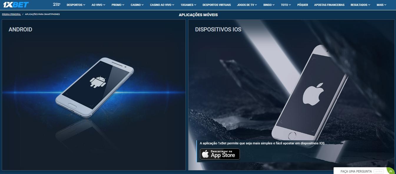 Métodos para 1xBet App download Portugal.