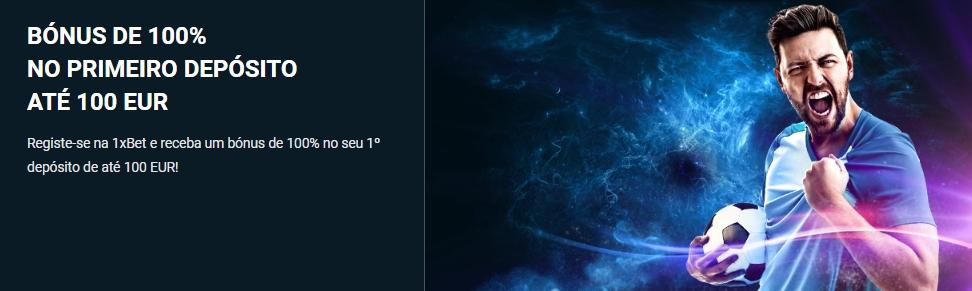 Bônus de boas-vindas 1xBet para novos usuários.