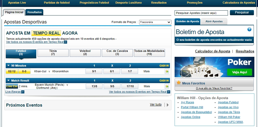 William Hill apostas desportivas.