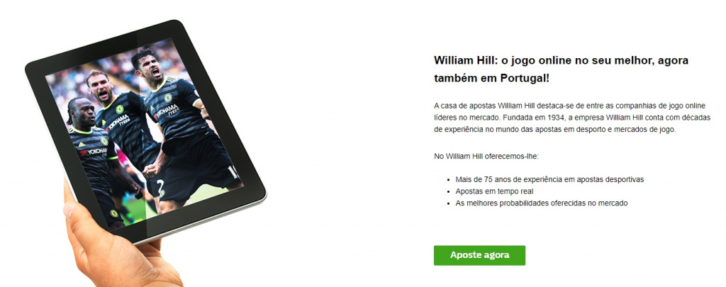 Análise da empresa de apostas William Hill Portugal.