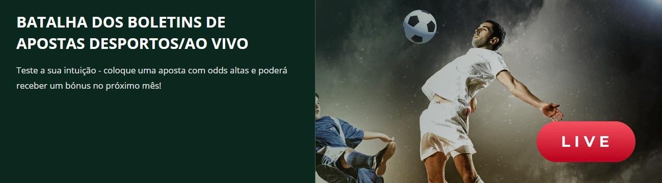 Betwinner Batalha dos Boletins de Apostas Desportivas/Ao vivo.