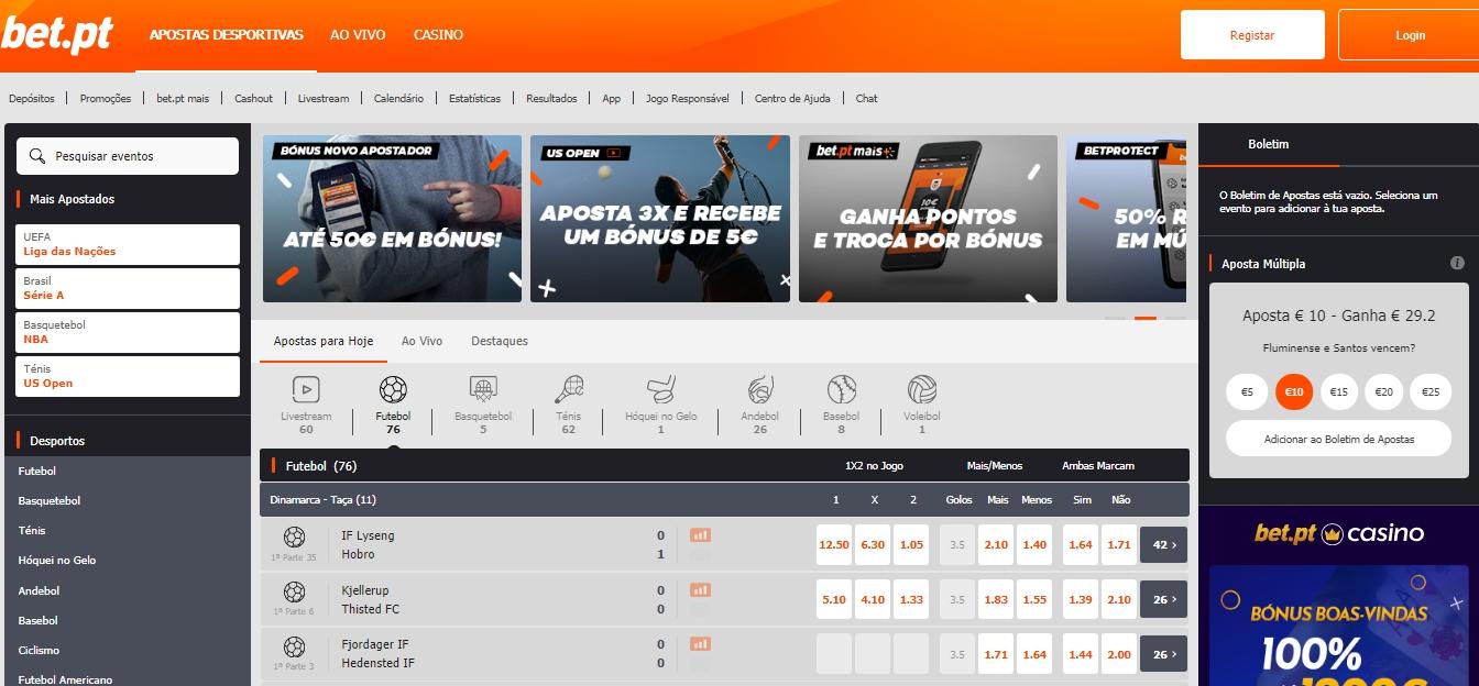 Válido Bet.pt login processo disponível em Portugal.