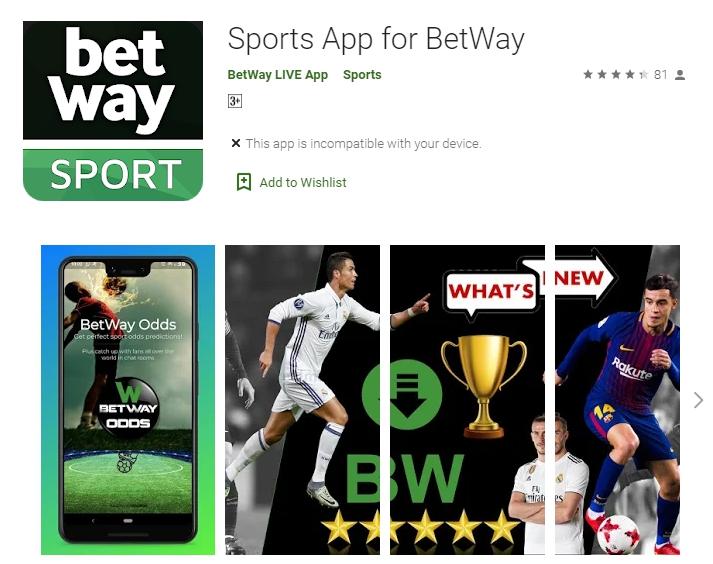 Métodos para baixar Betway app.