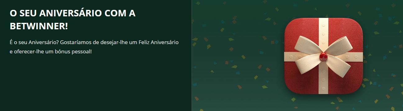 Código bônus da Betwinner de aniversário.
