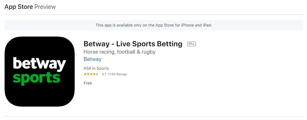 Como instalar a Betway app para iOS.